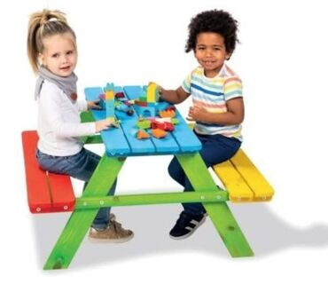 Nameštaj - Svilajnac: AKCIJA Drvene klupe za decu!ukupne dim 90 x 90 x 48 cm dim ploce