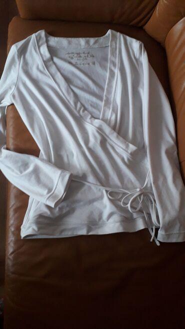 Odlicna bela pamuk sa elaszinom na preklop, vel m do l, kao nova