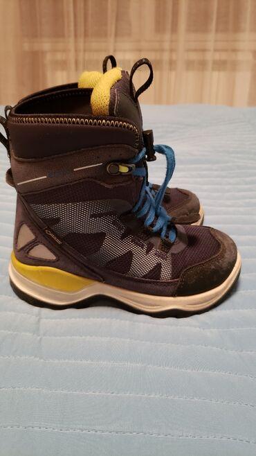 Ecco zimske cizme za decaka. Br. 28, 18cm po duzini. Nosene jednu