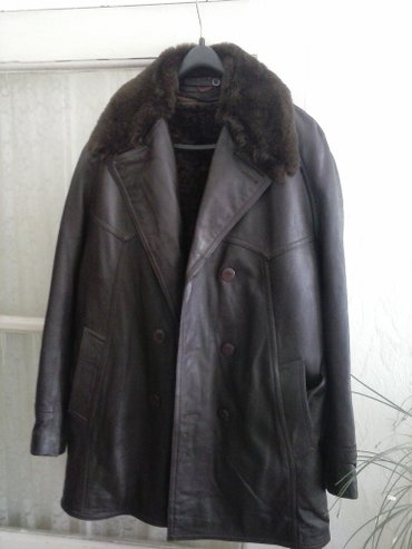 Muska kozna bunda,zatvorene braon boje. - Leskovac