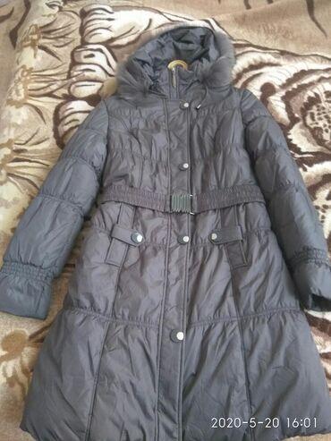 Куртка серого цвета, 42-44 размера, длинная. Новая