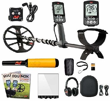 "Minelab Equinox 600 Multi-IQ Metal Detector with EQX 11"" Double D"