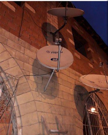 Sumqayıt şəhərində Krosna antena turk 300 azeri 18 rus 7 iki qalofka 10m kabel ve hd