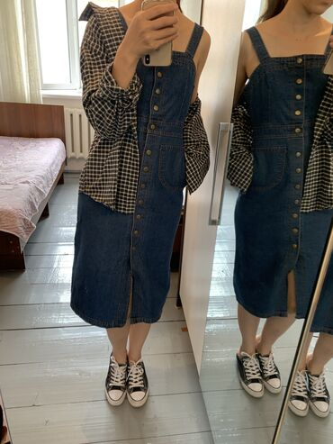 Сарафан джинсовый Состояние хорошее Размер S 500с