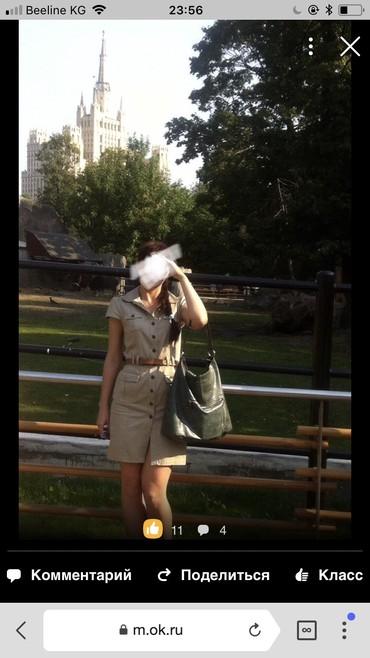 Платье х/б, сафари, привезли из америки, разм. 42, 1200 сом