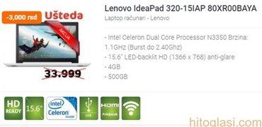 Lenovo IdeaPad 320-15IAP 80XR00BAYA - Beograd