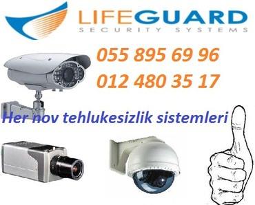 Bakı şəhərində Tehlukesizlik video kamera sistemi Internet uzerinden izleme
