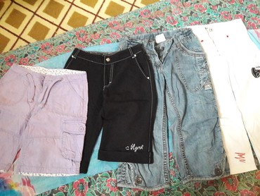 Шорты - Кыргызстан: Модные и удобные девочковые шорты и бермуды на 5-7, 8-10лет по сто сом