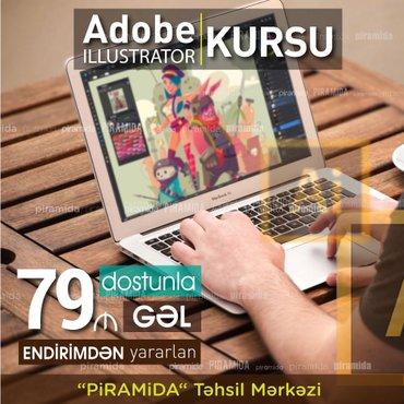 """Bakı şəhərində """"0""""-dan peşəkar səviyyəyə qədər  Adobe Illustrator KursuVaxtını"""