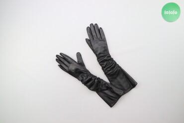 Жіночі довгі шкіряні рукавички     Довжина: 39 см Ширина: 9 см  Стан д