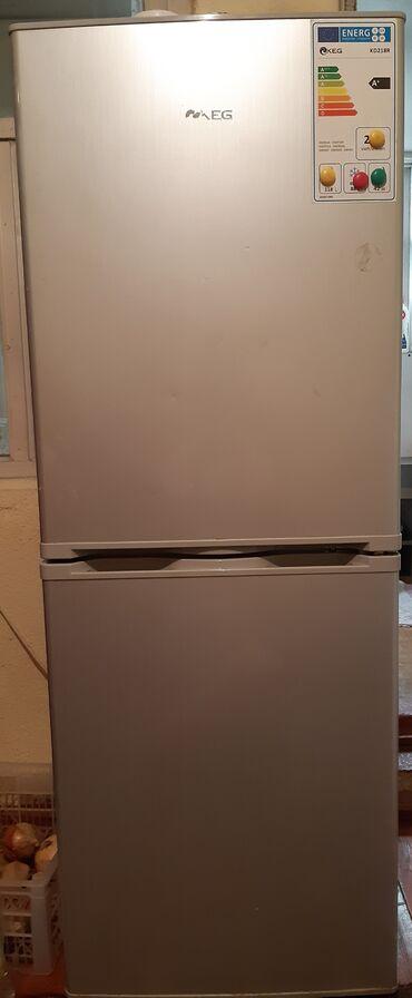 | Б/у Двухкамерный | Серый холодильник AEG