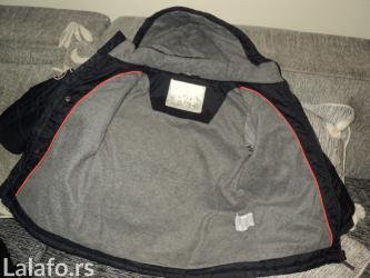 Zimske jakne model - Srbija: Teget zimska jakna, br.116, siva mekana unutrašnjost. Slabo nosena, u