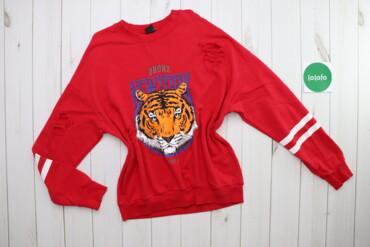 Жіночий світшот з тигром та фабричними дірочками Gina Tricot, p. M