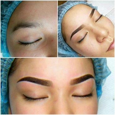 Перманентный макияж бровей. Татуаж губ 3d, век. Коррекция и моделирова в Бишкек