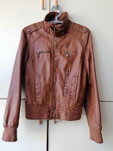 Kozni prsluk - Srbija: Kozna jakna (imitacija) vel. S. Sve je u super stanju sem na kragni
