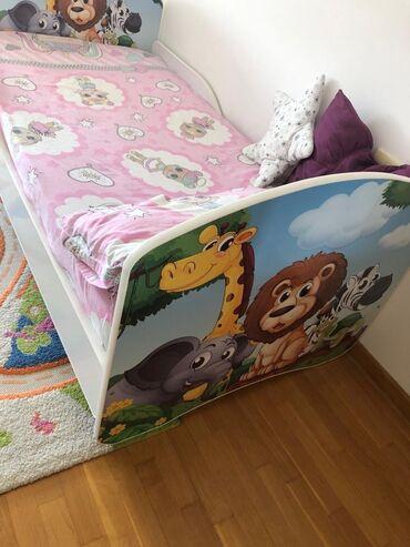 10086 oglasa: Na prodaju dečiji krevet, dimenzija 160x80 cm, sa naknadno kupljenim u