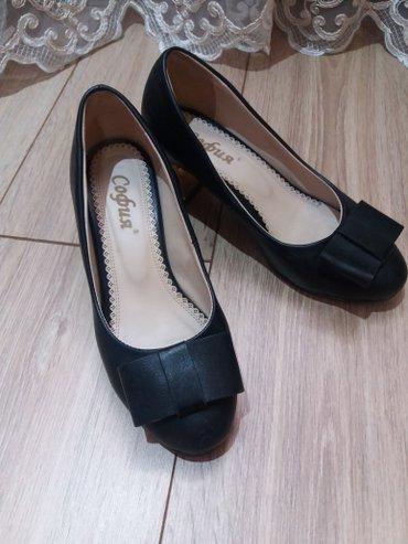 Черные женские туфли. Производство в Бишкек