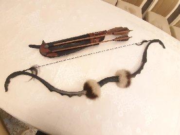 Продаю новый сувенирный лук из рога козерога, 5 стрелы в комплекте