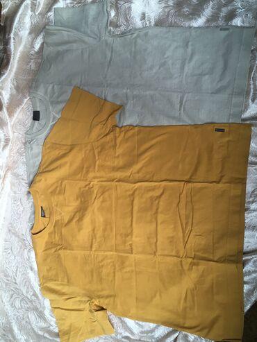 Продам мужские футболки Жёлтая футболка размер XLСерая футболка