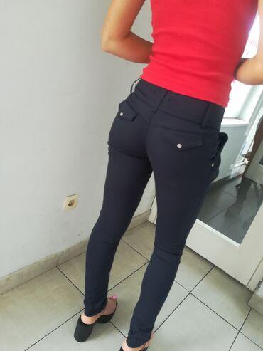 Ženska odeća | Beograd: Extra teget pantaloneSuper model i kvalitet uvoz Turska br S-MPovoljno