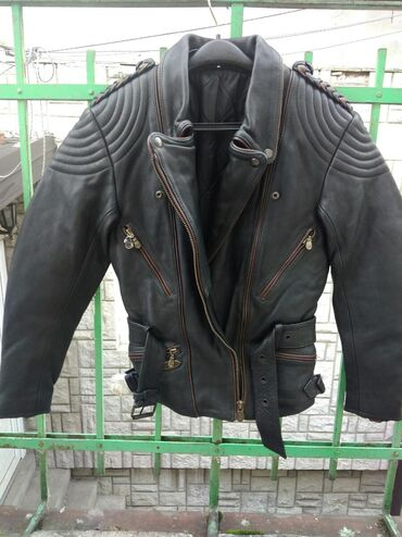 Moto jakna - Srbija: Bajker moto ženska kožna jakna. Nova, nikad korišćena. Teška, ne
