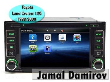 Bakı şəhərində Toyota land cruiser 100 1998-2008 üçün dvd- monitor. Dvd-