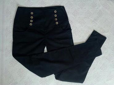 Pantalone-hm-duboke - Srbija: Crne duboke pantalone