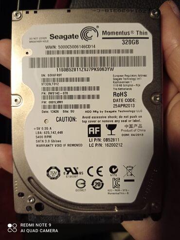 xarici sert disk - Azərbaycan: Sert disk(hard disk) 320gb 100% .Tam saglam 40 azn