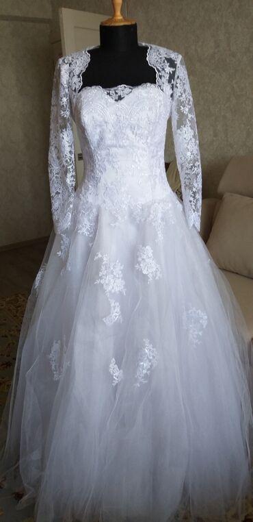 свадебное платье размер 46 48 в Кыргызстан: Продаю или прокат платья. Размер 46-48-50