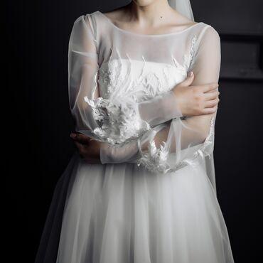 джинсовый корсет в Кыргызстан: Продаю свадебное платье. Нежное свадебное платье создает торжественный