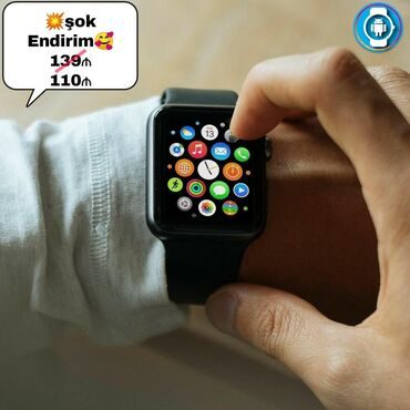 Göy Uniseks Qol saatları Apple