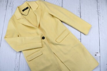Товар: Пальто женское ZARA Woman, светло-желтого цвета, размер 26, 522