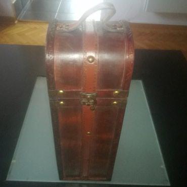 Drvena, vintage kutija za flašu - Beograd