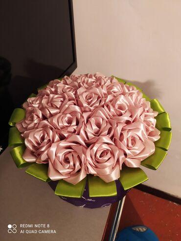 наволочки из атласа в Кыргызстан: Цветы из атласа,делаю на заказлюбой цвет и объем.они очень красивые