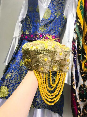 платье со штанами узбекские в Кыргызстан: Костюм для узбекского танца. (Взрослый). Белое платье, длинная жилетка