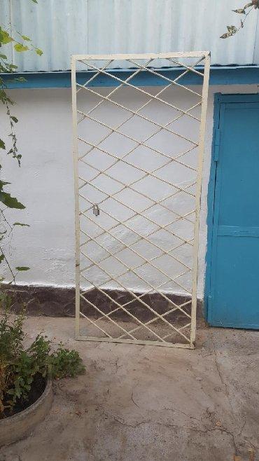 Двери - Кыргызстан: Решетка на дверь с рамой в г.Кара Балта размер 210см×95см