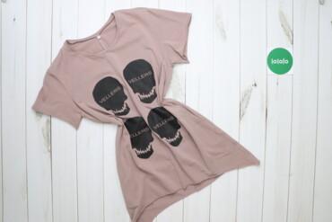 Жіноча футболка з черепами Vellers, р. S   Довжина: 72 см Ширина плеча