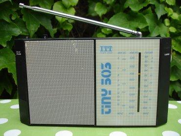 Stari nemački radio tranzistor ITT, model Tiny-503, proizveden davne - Novi Sad