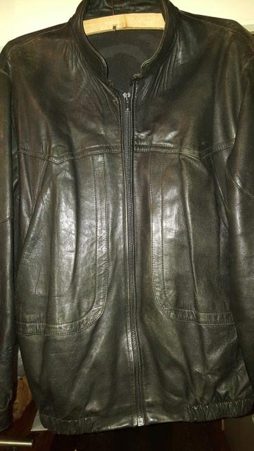 Muška odeća | Kragujevac: Prodajem crnu mušku kožnu jaknu, veličina odgovara broju 52, dužina 70