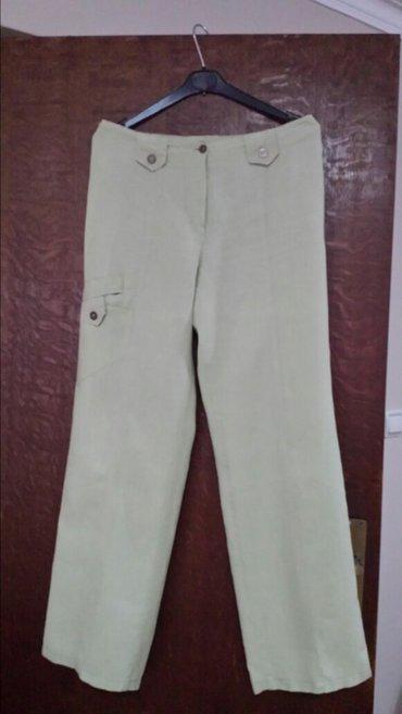 Lanene ženske pantalone, polovne, bez oštećenja, struk 80 cm, - Velika Plana