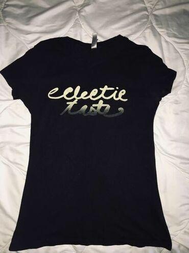 Majice na veliko - Srbija: Crna pamucna majica sa natpisom, velicina M