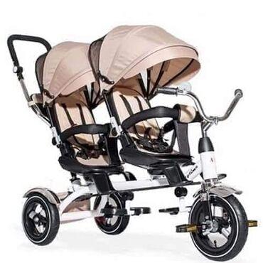 Kolica za bebe - Srbija: Playtime komforni tricikli Twins sa dva sedista, predviđen za