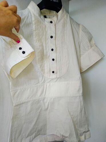 Блузка MANGO. Размер М. НОВАЯ, не прошел размер. Цвет молочный, ткань