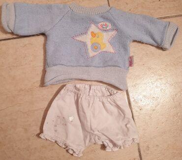 Dzak odece garderoba - Srbija: Zapf baby born garderoba - dzemper i pantalone za bebu lutku. Igracka