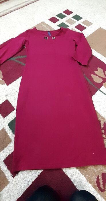 бордовое платье трикотаж в Кыргызстан: Платье бордовое трикотажное,размер s-m,состояние нового,одела один раз
