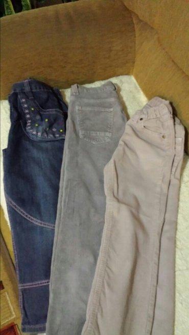 Pantalone za devojčice, nošene, dobro očuvane, veličina 8 i 10 - Velika Plana