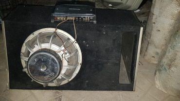 Продаю сабвуфер + усилитель + короб. в Бишкек