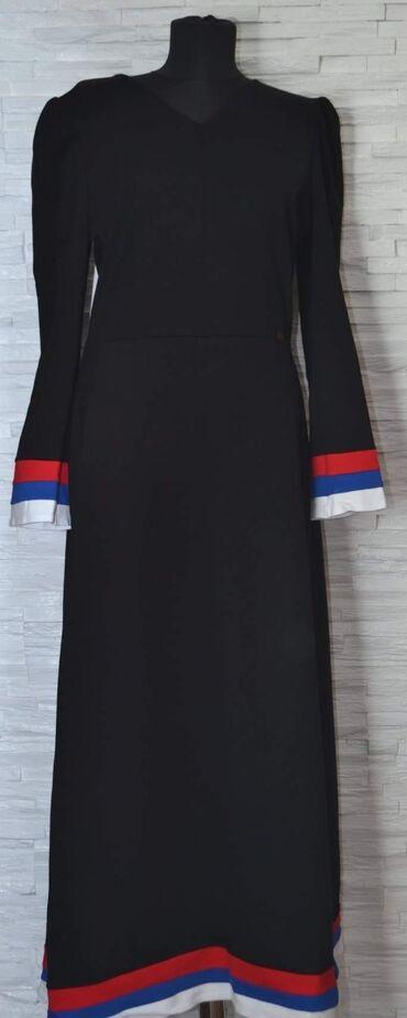 Haljina Srbija. Od pamuka srednje debljine, odlična za jesen, zimu