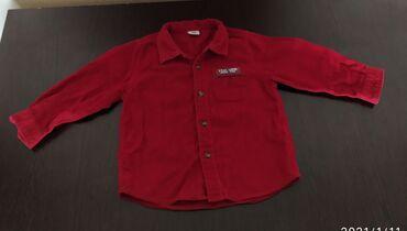 Разгрузка детских вещей! Рубашка на мальчика до 1,5 года примерно вель