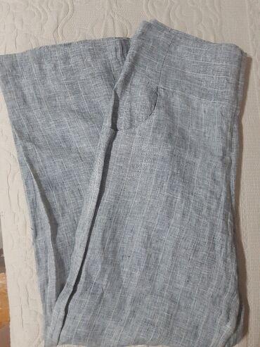 Lanene pantalone - Srbija: Par puta korišćene Afrodita lanene ženske pantalone :)Veličina